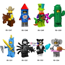 ac1dd7ddd61f Single Series Costume cowboy Fireworks boy Circus clown Cactus girl Unicorn  boy building blocks models bricks