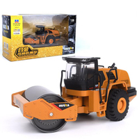 1/50 Scale Die cast Alloy Metal Simulation Road Roller Truck Model Car Machine Model Construction Engineering Truck F Collection