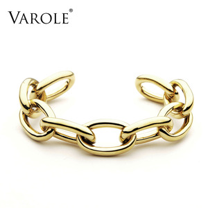 Image 1 - VAROLE Chain Female Bracelet Gold Color Cuff Bangles For Women Jewelry Gifts  Noeud Armband Pulseiras