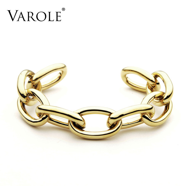 VAROLE Chain Female Bracelet Gold Color Cuff Bangles For Women Jewelry Gifts  Noeud Armband Pulseiras