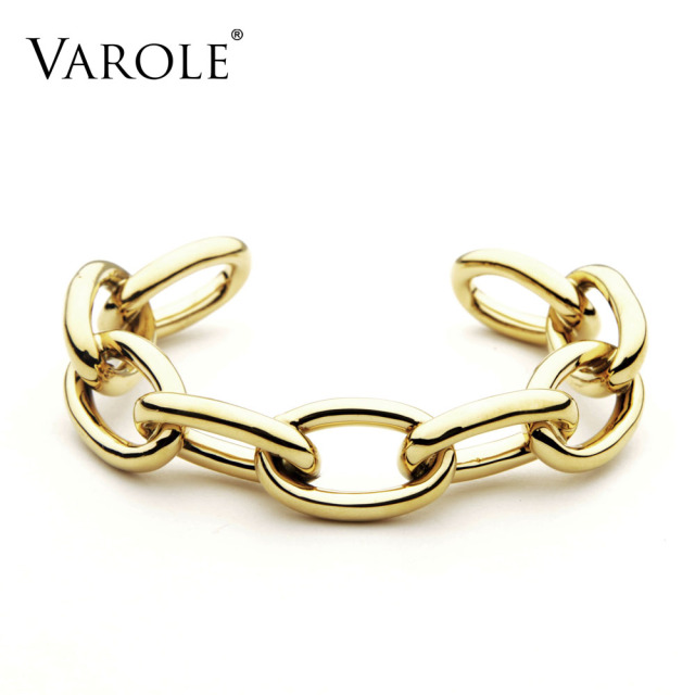 VAROLE Jewelry Chain Female Bracelet Noeud Armband Gold Color Copper