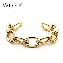 VAROLE pulsera de cadena para mujer, brazalete de Color dorado, regalos de joyería, brazalete Noeud