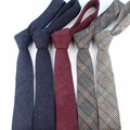 Europea de Lana de Los Hombres Corbatas Corbata Estrecha Corbata de Punto de Punto Flaco Corbata Pajarita A Cuadros Informal Inglaterra