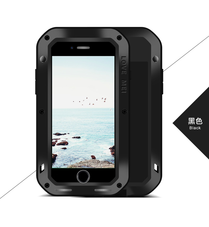 For Iphone 8 8 Plus Powerful Anti Knock Case Original LOVE MEI Extreme Life Snowproof Dropproof
