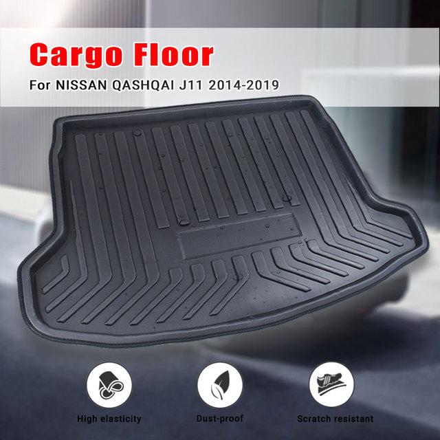 Tray Boot Liner Cargo Rear Trunk Cargo Mat Floor Carpet Mud Kick For Nissan Qashqai Dualis J11 2014 2015 2016 2017 2018 2019
