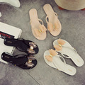 2016 Bow Thong Jelly Shoes Woman Jelly Flip Flops Ladies Flat Slippers Zapatos Mujer Sapatos Femininos New Summer Women