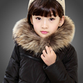 80% de pato blanco abajo chaqueta caliente del invierno para niñas niños con capucha abajo abrigo largo parka rojo verde negro con cuello de piel para adolescente