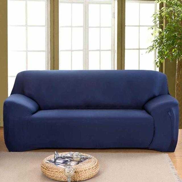 Solid color fabric sofa cover sanding slipcovers for living room pure color double-seat universal modern High Quality R6