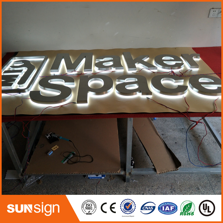 Factory Outlet Outdoor Metal Backlit Led Letters Sign For