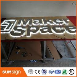 Factory Outlet outdoor metal backlit led letters sign for building
