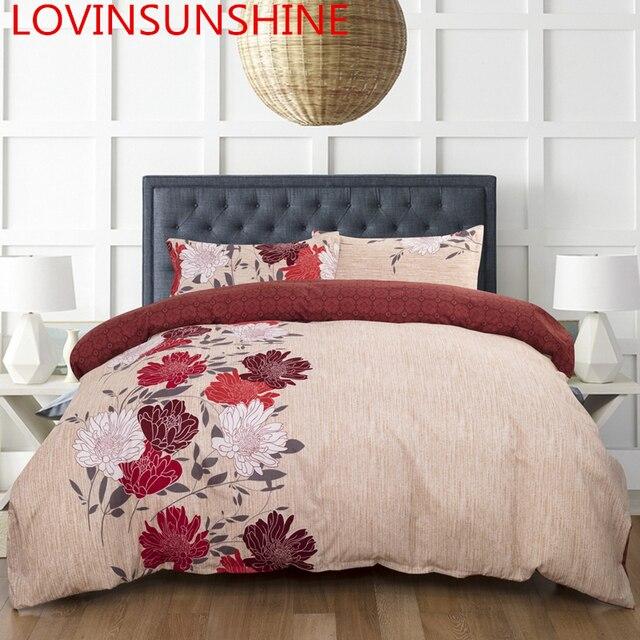 LOVINSUNSHINE Duvet Cover King Size Comforter Bedding Sets Queen Printed Flowers Bedding Set AB06#