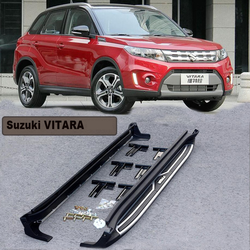 US $157 5 30% OFF|For Suzuki VITARA 2016 2017 Car Running Boards Auto Side  Step Bar Pedals High Quality Brand New European Style Nerf Bars-in Nerf