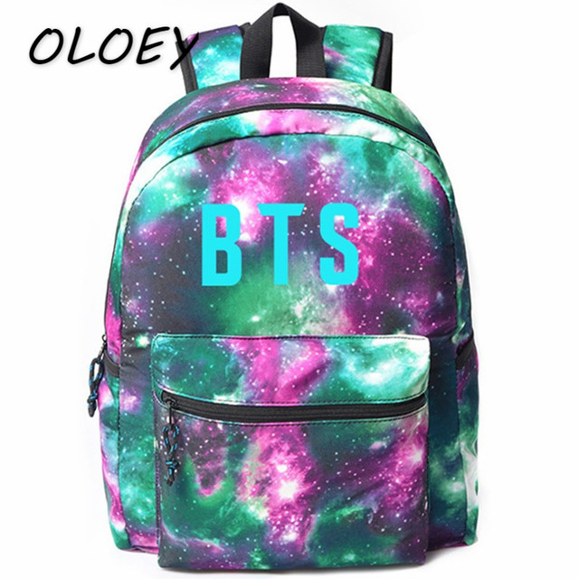 Korea BTS Floral Canvas Backpack Bangtan Boys School Bag For Student Army  Teenagers Travel Laptop Bag! 0078496d53b25