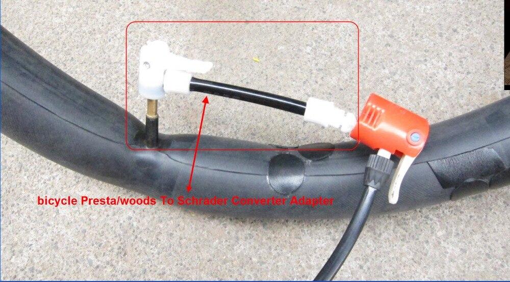 Presta Schrader Cycle Valve Tube Converter Bike Tire Pump Valve Adaptors
