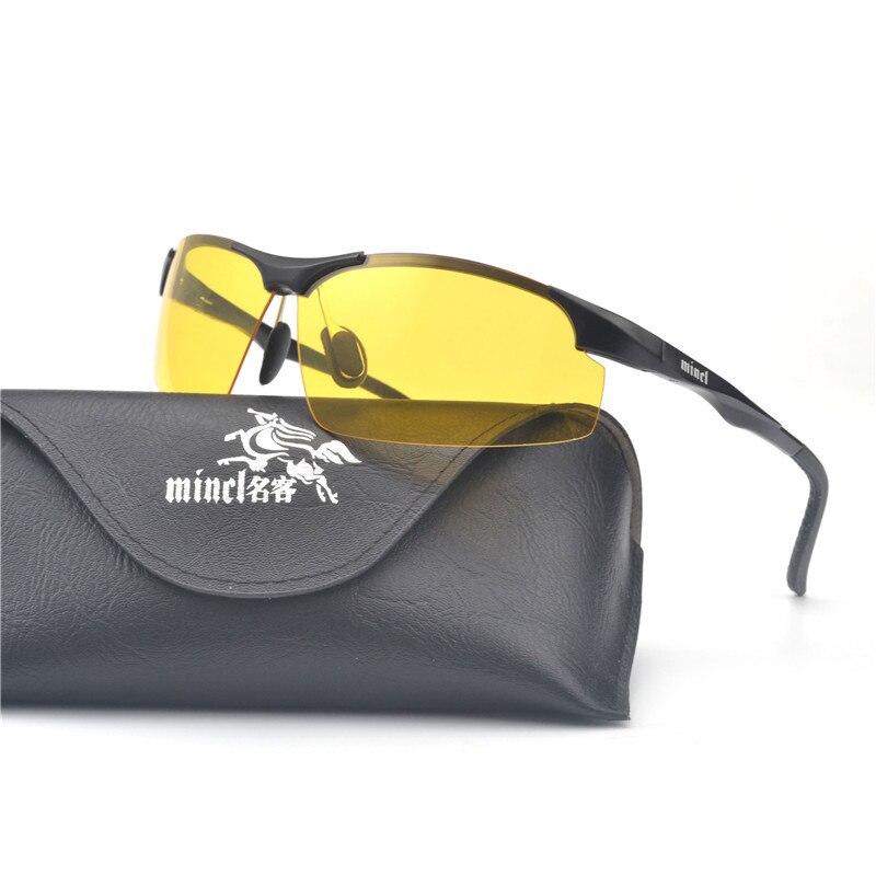 1e6d045bc0329 MINCL  s Homens Motoristas de Carro de Alumínio E Magnésio Óculos de Visão  Noturna