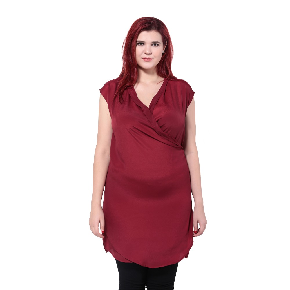 Plus Size  Basic Front Cross Loose Tops Sleeveless V-Neck Shirt Women Fashion Solid Big Size Blouse Tops 5XL 6XL