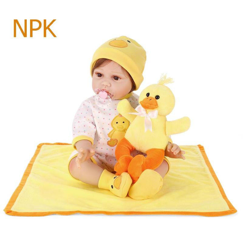 NPK Soft Silicone Lovely Realistic Simulation Reborn Doll Lifelike Artificial Kids Cloth Dolls Toy Christmas Gifts e5ql 188 aquarium decorative lifelike artificial soft water plants green black