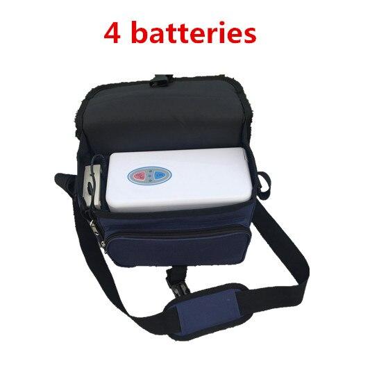 COXTOD 4 batterie Genuino Concentratore di Ossigeno Portatile per la casa di viaggio con auto ricarica