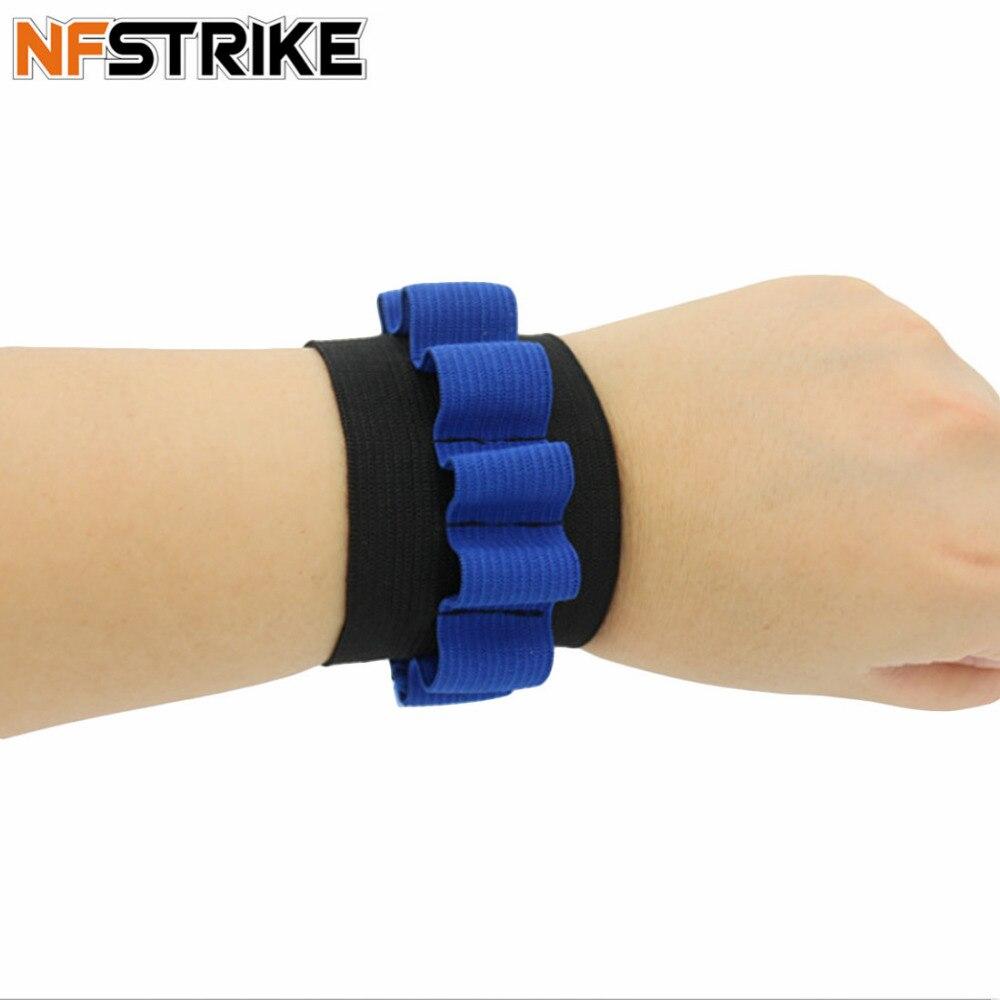 NFstrike браслет патронташ для Нерфа n-удар Элитной серии мягкая пуля браслет Дартс боеприпасы хранения ремешок-синий