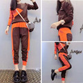 Europe station 2015 autumn new fashion style long-sleeve sweater harem pants 2 piece set tracksuit suit women