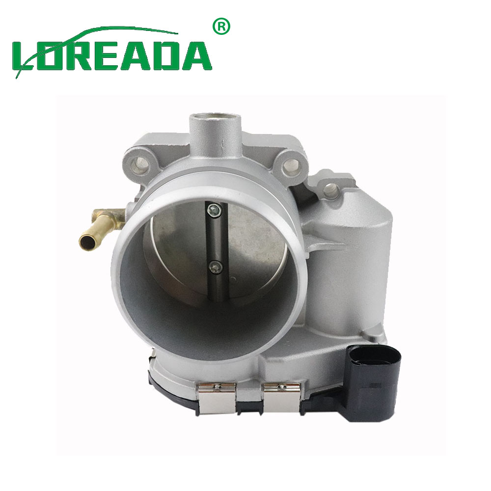 LOREADA Throttle Body Assembly For Audi A3 TT Quattro 1.8T For VW Volkswagen Seat Bora Golf Bore Size 57mm Fuel Injection Assay 06a133063g 06a 133 063g 408237212007z for audi a3 skoda octavia volkswagen bora golf iv variant throttle body assembly