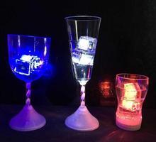 polychrome flash ice liquid sensor glowing ice cube submersible lights decor light up bar club wedding