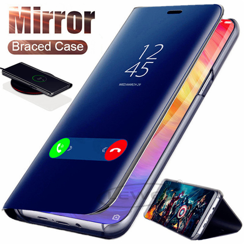 Phone Bags & Cases Brilliant Mirror Smart View Case For Xiaomi Redmi 5 Plus 6a 4x Note 7 5 4x 6 Pro Flip Leather Stand Case For Xiaomi 8 9 Se A2 8 Lite Cover High Quality And Inexpensive Fitted Cases