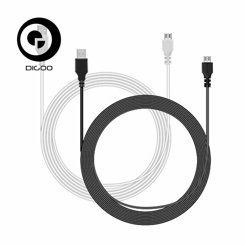 DIGOO DG-BB-13 MW 9.99ft 3 Meter Long Micro USB Durable Charging Power Cable Line For IP Camera Device