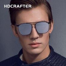 HDCRAFTER Aluminum Magnesium Fashion Square Sun Glasses Polarized Coating Mirror Oculos UV400 protection eyewear for Men