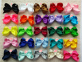 new arrival 25pcs/lot 5 Inches Big Grosgrain Ribbon Hairbows,Baby Girls' Hair Accessories With Clip, DIY Hair Bows  P
