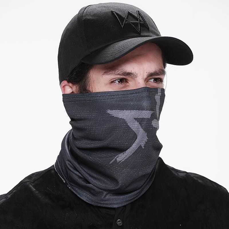 시계 개 모자 코스프레 남자 비디오 게임 cos aiden pearce 모자 야구 모자 고품질 패션 블랙 태양 모자