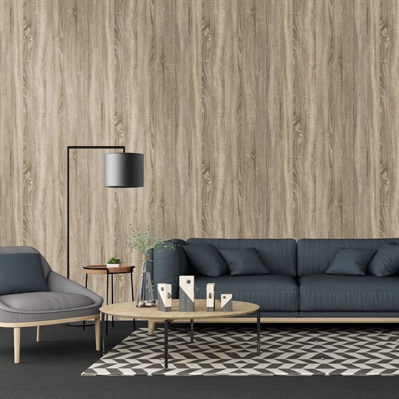 diy decor waterproof self adhesive wood grain wallpaper