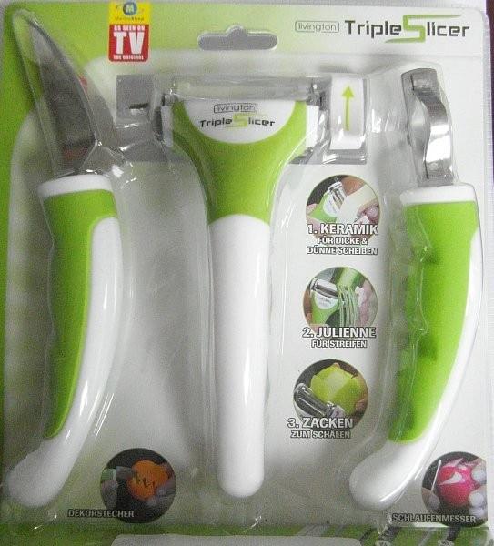 Triple vegetable slicer utensilios de cocina cortadoras de sharp popupar segment