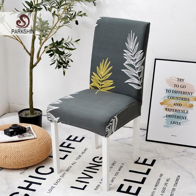 Parkshin mode amovible housse de chaise extensible élastique housses Restaurant pour mariages Banquet pliant hôtel chaise couverture