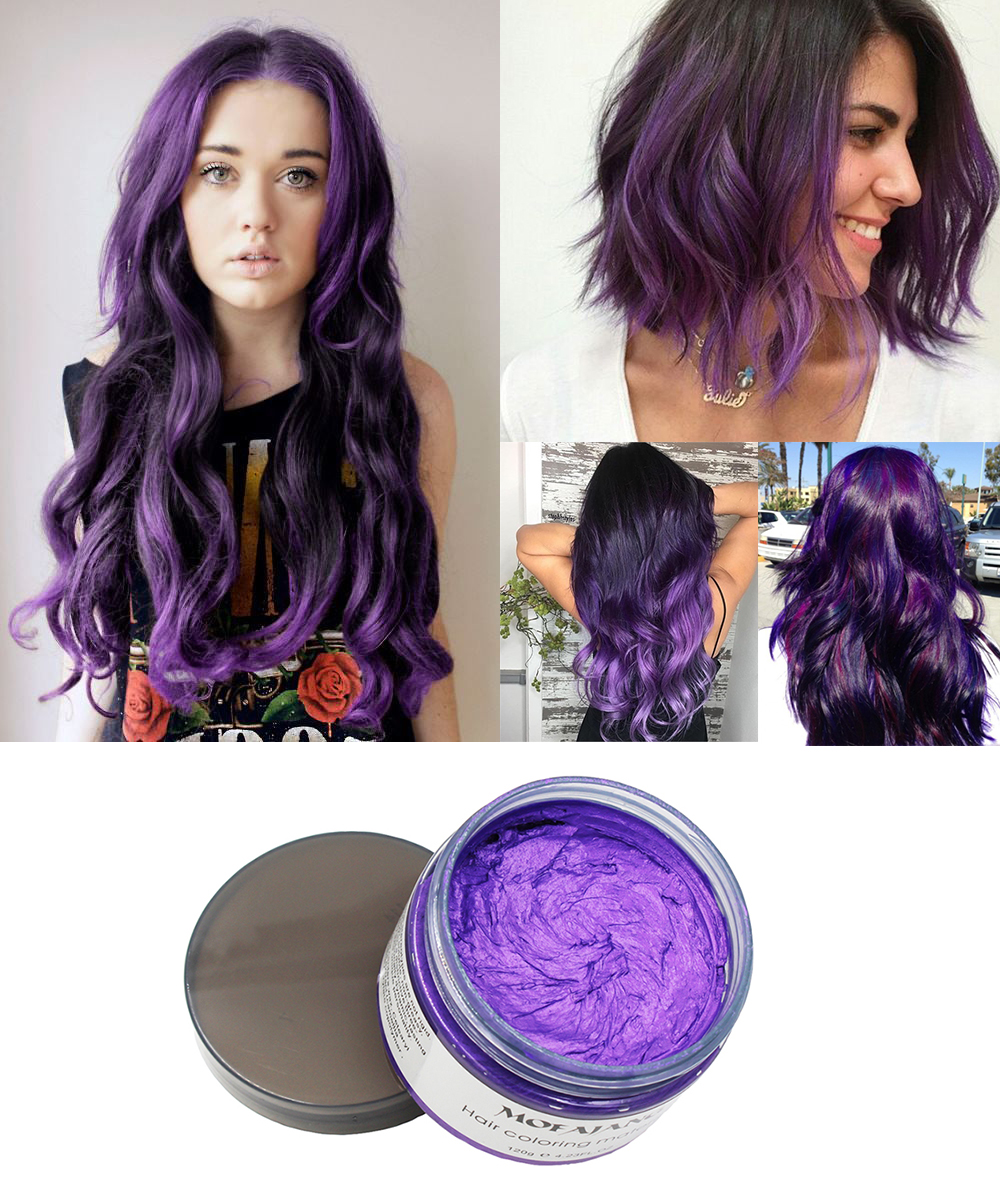 Purple hair wax 13