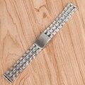 2016 de Alta Calidad de Plata 18mm 20mm Correas de reloj de Acero Inoxidable Correa de Pulsera Para Hombres Mujeres Relojes Reemplazo GD0105
