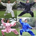 4color BLACK/BLUE Customized women&men tai chi clothing sets kung fu clothes martial arts uniforms suits  costumes uniforms