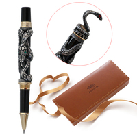High Quality Luxury Snake Ballpoint Pen Novelty Metal Ball Pen for Writing Caneta 0.5MM Nib Stationery Office Supplies