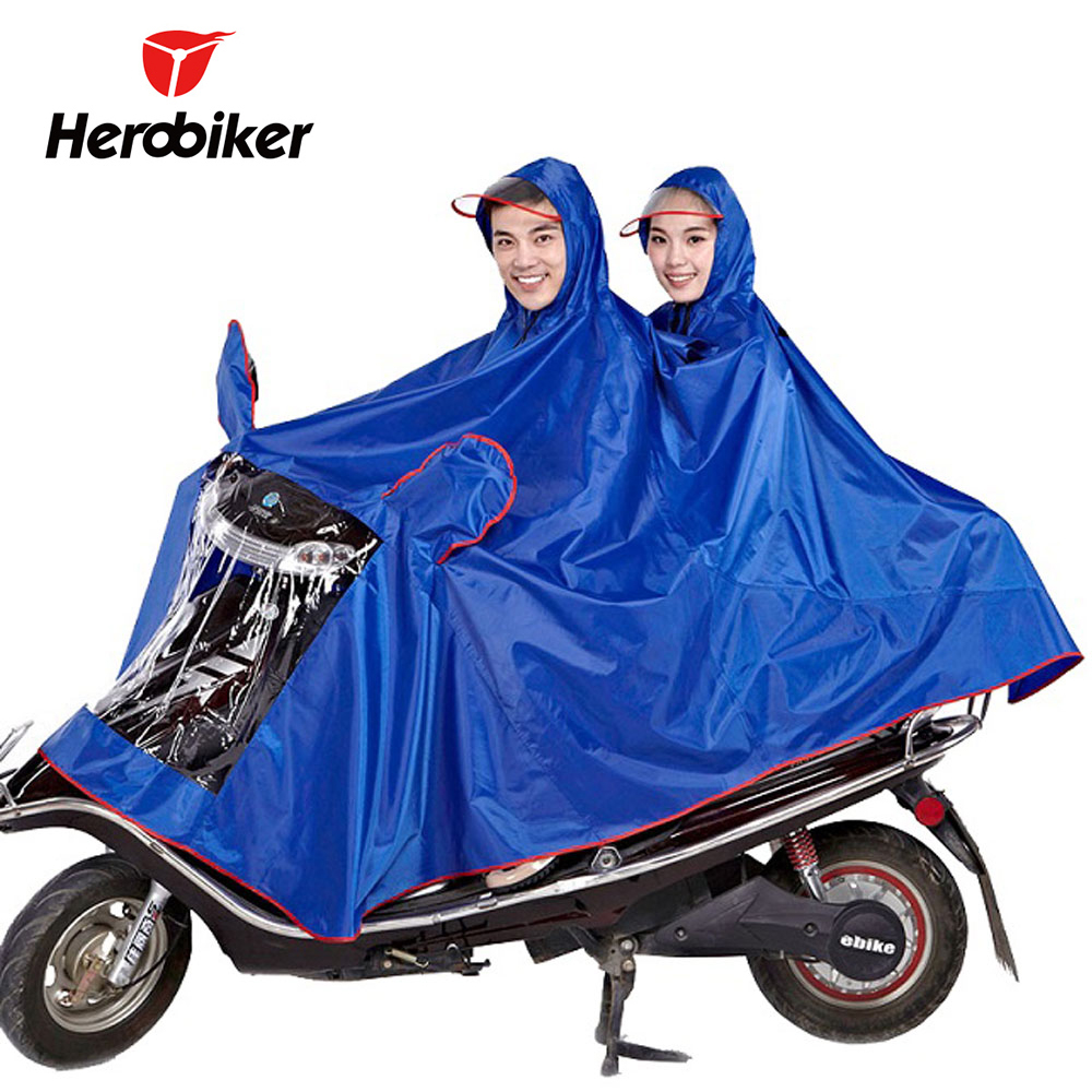 HEROBIKER Motorcycle Raincoat Waterproof Rain Coat Motorbike Rain Suit Motosiklet Scooter Rainwear Motocicleta Two People Мотоцикл