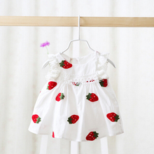 2016 Hot Sale Baby Girl Dresses Brand New Summer Style Infant Cotton Sleeveless Dress Children Clothing Dress