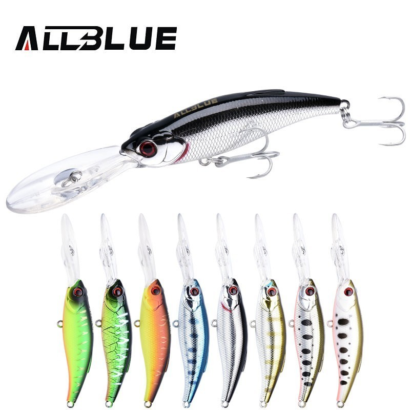 ALLBLUE 2018 Fishing Lures 75mm 12g DEPTH 0.5-4m Long Distance Hard Bait Leurre Floating Wobblers Pike Bass Deep Catcher 75F ...