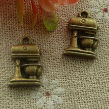 180 piezas de bronce plateado licuadora encantos 16x11mm #2113