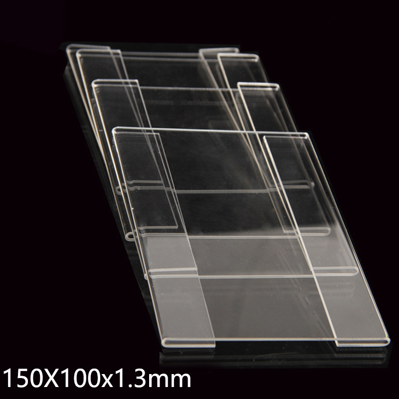 50pcs Acrylic Plastic Sign Price Tag Label Display Wall Sticker Paper Promotion Name Card Holders 150x100x1.3mm acrylic trapezoidal block photo frame price tag sign label paper list clip magnetic name card display rack table desktop stand
