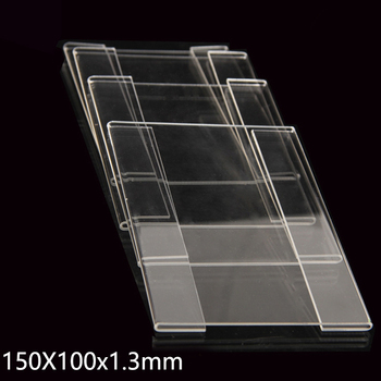 50pcs Acrylic Plastic Sign Price Tag Label Display Wall Sticker Paper Promotion Name Card Holders 150x100x1.3mm