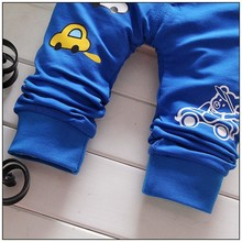 Autumn Pants for Baby Boys with Car Printed