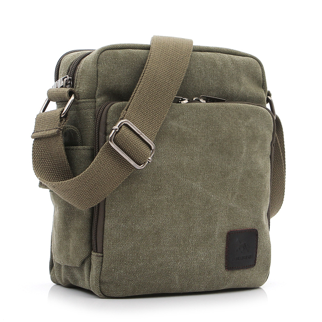 Multi-functional Casual Messenger Bags Men Canvas Leisure Men Shoulder Bags Vintage Small Crossbody Satchel Bag For Men 2