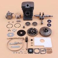 38mm Cylinder Crankshaft Clutch Drum Carburetor Kit Fit STIHL MS180 MS170 018 017 Chainsaw Engine Motor Parts