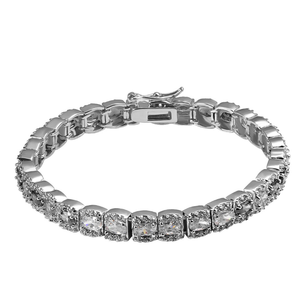 11ccfe83e6ea இBlanco de circón de cristal de Plata de Ley 925 FashionBeautiful ...