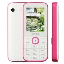 Ipro бренд I324F 2.4 дюймов двойной слот для карт GSM открыл мобильный телефон Bluetooth с Английский Португальский Испанский сотовый телефон