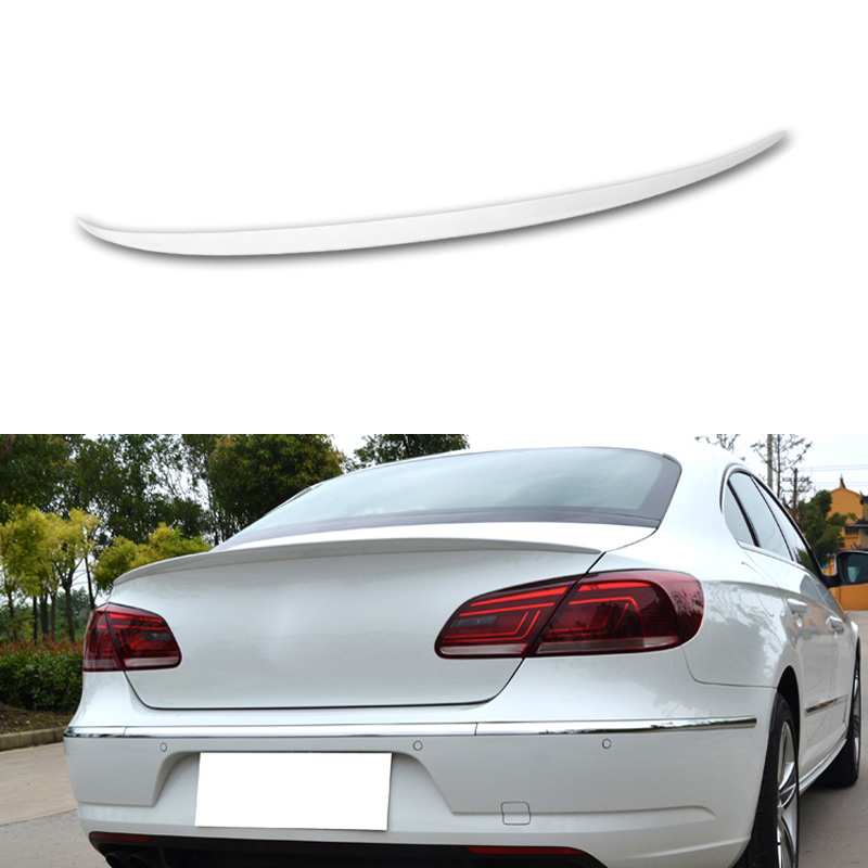 Car Rear Spoiler Trunk Roof Spoiler For Volkswagen Passat CC 2013 2014 Without Paint Car-styling Auto Decoration Tail Spoiler car rear trunk security shield cargo cover for volkswagen vw tiguan 2016 2017 2018 high qualit black beige auto accessories
